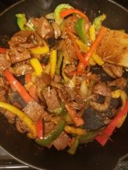 fajita cooked